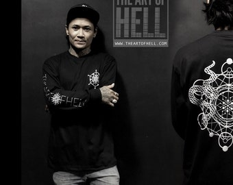 "The Art of Hell ""MetaTrons"" Black crewneck"