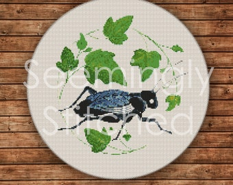 Counted Cross Stitch Pattern PDF - Insect Cricket - Instant Digital Download PDF