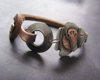 Leather Cuff Bracelet for Men  Mens Bracelet Leather  Mens Cuff Bracelet, Leather Bracelet Men  Rustic Bracelet  Mens Leather Cuff Bracelet