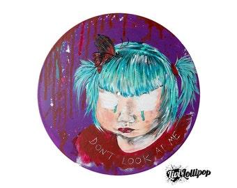 Emotional art teen girl gifts dark art goth art goth doll goth painting goth decor goth emo gifts goth fairy goth girl art emo forever