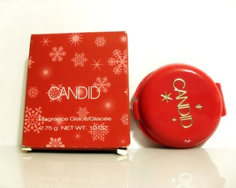 Vintage Candid by Avon 0.10 oz Fragrance Glace Solid Perfume Compact with Box 2003
