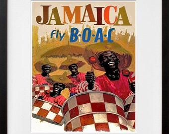 Jamaica Travel Poster Jamaican Art Print Home Decor (ZT396)