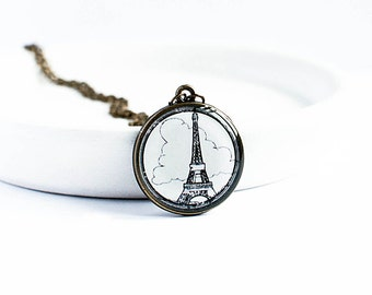 Eiffel Tower necklace Paris jewelry travel France pendant Eiffel Tower charm