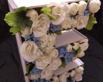 3D Floral lettering- multiple colour choices available