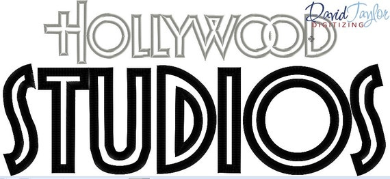 hollywood studios logo 4x4 5x7 and 6x10 in 9 formats