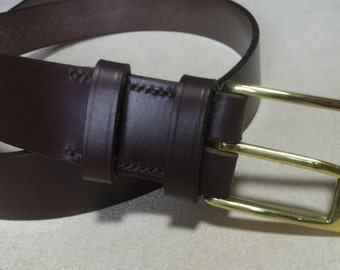 The 'METRO' Solid Brass Buckle &  English Bridle Leather