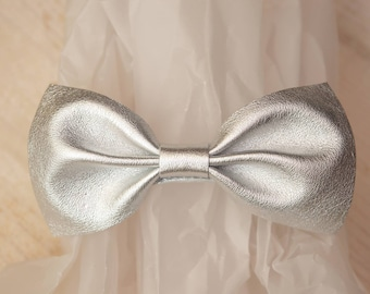 Boys leather bow tie Ring bearer bow tie Kids wedding accessories