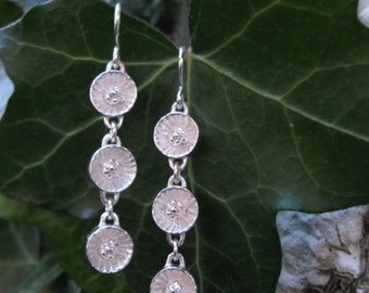 NEW Small Dangle Earrings Triple Tennessee Coneflower