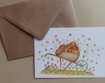 Pumpkin picking card