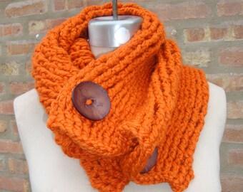 Pumpkin Cowl - Crochet Scarf Neckwarmer From KnottyLoop