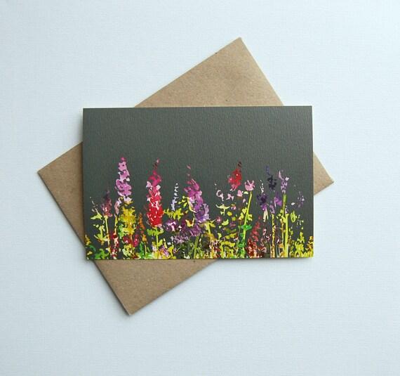 Greeting Card Postcard Birthday Card Drawing Print