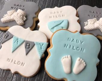 20 Baby Shower Cookies - Personalised!