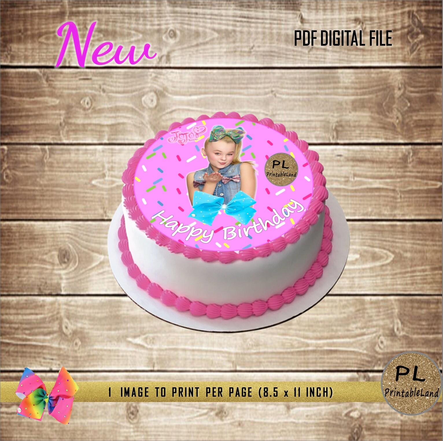 Jojo Siwa Inspired Image To Print Your Own Edible Cake Topper