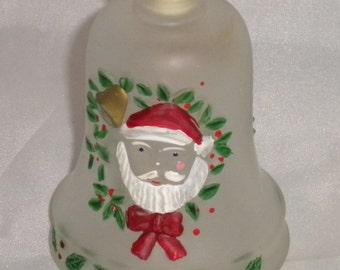 Vintage 80's Light Up Santa Ornament