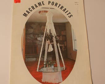 Macrame Portraits Book 3 Plant Hangers 1976 Macrame Patterns Knotting Directions