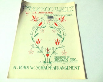 Vintage Sheet Music The Cuckoo Waltz 1949