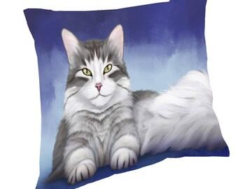 Persian Cat Throw Pillow