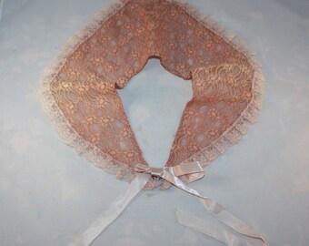 Vintage Irish Lace Collar Rose Handmade 1033
