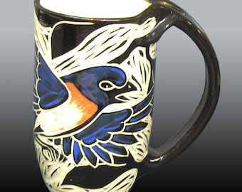 Bluebird in a Tree Mug