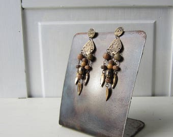 Metal Earring Display - Handmade from Steel - Rusty Patina - Quantities Available