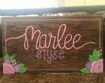 Personalized Nursery sign, wood sign, nursery decor