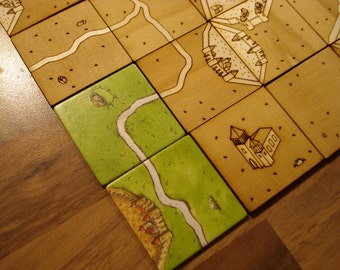 Laser Cut Carcassonne Tile Set