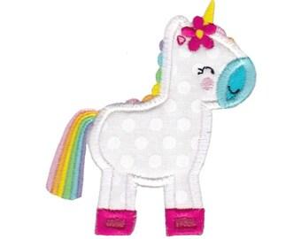 Be A Unicorn Design 7 Applique Machine Embroidery Design 4x4 5x7 6x10
