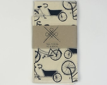 Tea Towel Bicycle: Black