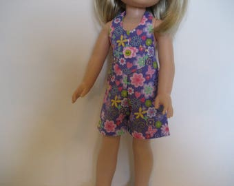 14.5 Inch Doll Clothes - Butterfly Romper made to fit dolls such as the Hearts 4 Hearts and Wellie Wishers doll clothes