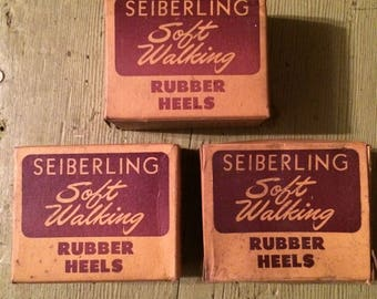 seiberling soft walking rubber whole heels 3 white 5/8 wide
