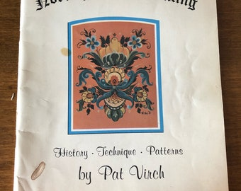 Traditional Norwegian Rosemaling painting patterns and techniques 1970s