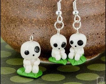 Mononoke Kodama Tree Spirit Charm or Earrings (Made to Order)