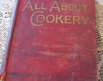 Vintage Antique Mrs. Beeton's All About Cookery, News Edition Enlarged & Revised, 1905