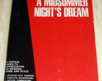 William Shakespeare's A Midsummer Night's Dream - Monarch Notes - 1964