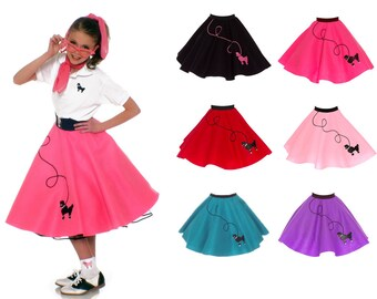 LARGE Child (10-12) 50's POODLE SKIRT