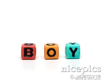Cubes with letters abstract BOY nursery children playroom downloadable digital art print