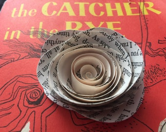 25- Catcher in the Rye Book Page Roses