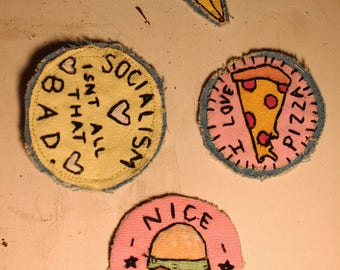 Sew-On Patches, Set of Four