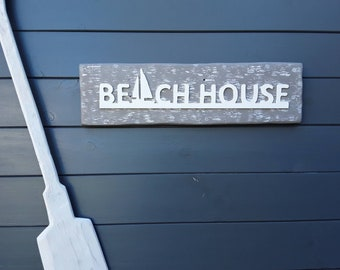 BEACH HOUSE, beach decor sign