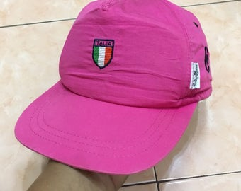 Vintage Conte of Florence Hat Cap Trucker made in italy pink colour free size adjustable