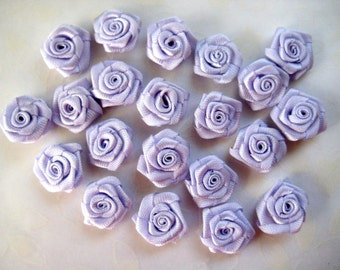 5/8 inch Lavender Flowers Rosettes for Sewing, Crafting, Scrapbooking, Embellishment, Hair Accessories, Doll Clothing, 15 mm, 30 pieces