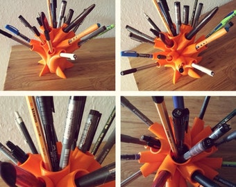 3D Printed Pen and Pencil Stationary Holder Organic Design