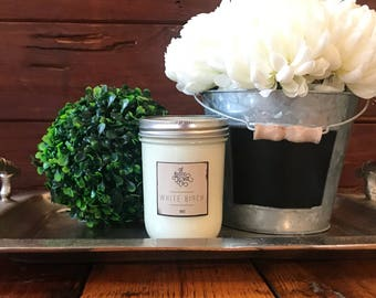 White Birch 16oz Woodwick Candle