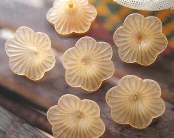 10 pcs 20mm - Lovely Frosted Garden Petunia flower bead (FL038-N2)