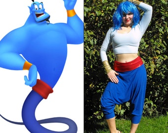 Aladdin Genie Costume // Genie Halloween Costume for Women MADE TO ORDER