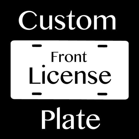 Zentangle - Custom Front License Plate
