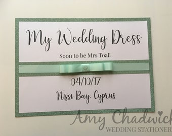 A4 Personalised Wedding Dress Box Sign