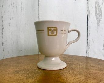 Vintage 1970's Walt Disney World Footed Mug