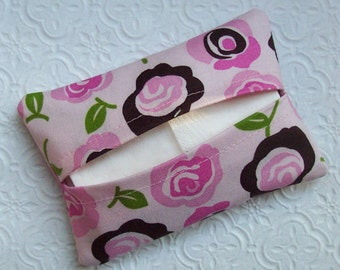 Pink Topsy Turvy Floral Travel Tissue Cover