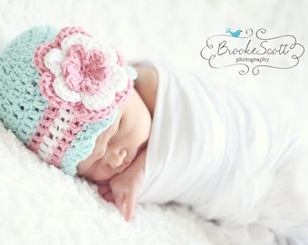 Baby Girl Hat / Newborn Girl Hat / Crochet Girls Hat / Baby Beanie / Crochet Baby Hat / Baby Shower Gift Girl / Girls Hat / Hat For Girls